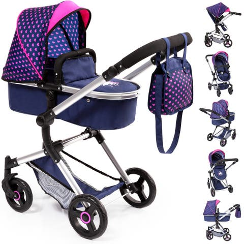 Baby Doll City Vario Pram Baby Doll Stroller w/ Diaper Bag