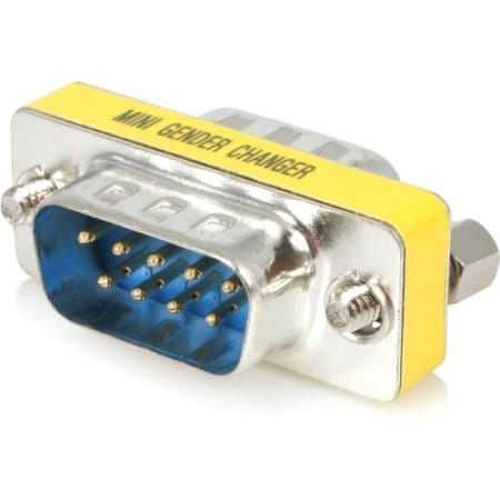 Startech - This Slimline Db9 Gender Changer Features Two Slimline Db9m Connectors, Offering