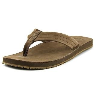 Ugg Australia Camano Men Open Toe Leather Brown Flip Flop Sandal