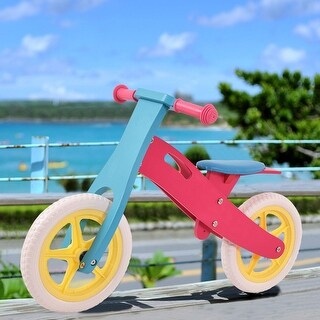 Costway 12'' Balance bike Classic Kids No-Pedal Learn To Ride Pre Bike w/ Adjustable Seat