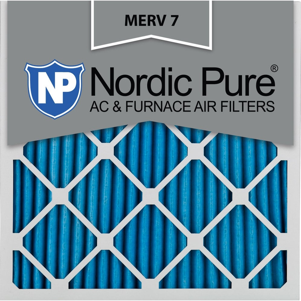 Nordic Pure 10x10x1 Pleated MERV 7 AC Furnace Air Filters Qty 24