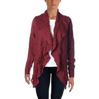 John Paul Richard Womens Crochet Open Front Cardigan Sweater