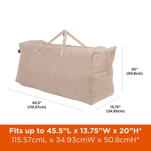 "Modern Leisure Chalet Outdoor Patio Cushion & Cover Storage Bag, 45.5"" W x 13.75"" D x 20"" H, Beige"