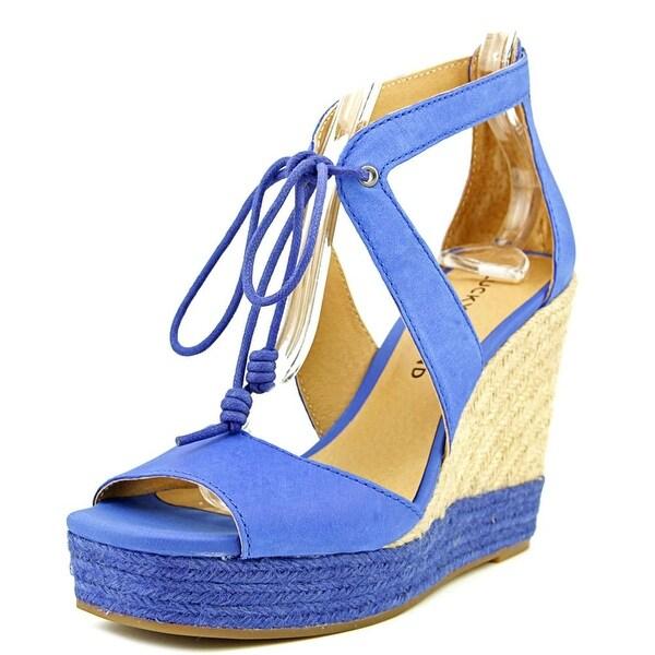 Lucky Brand Listalia Women Open Toe Leather Wedge Sandal