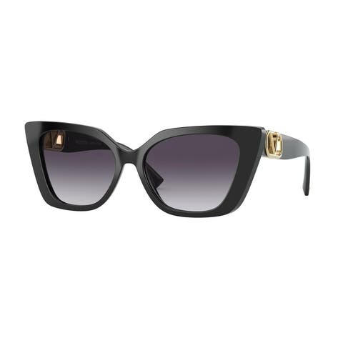 Valentino VA4073F 50018G 56 Black Woman Cat Eye Sunglasses