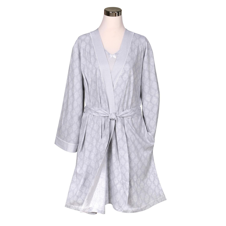 Metropolitan Womens 2 Piece Sleep Set Sleeveless Nightgown With Coordinating Robe Overstock 32279311