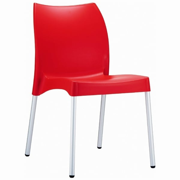 Vita Resin Outdoor Dining Chair - Set of 2 (Red) - Red