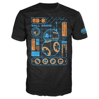Funko Men's Pop! T-Shirts: Ep 7 - BB-8 Blueprint