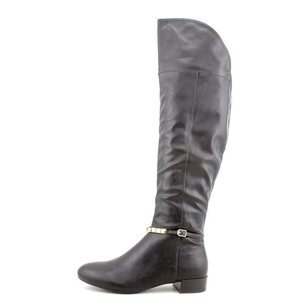 Marc Fisher Womens Knowls3 Leather Closed Toe Over Knee Fashion Boots