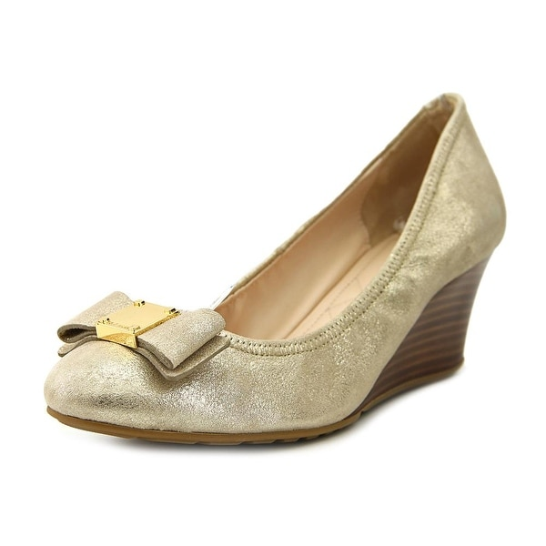Cole Haan Tali Grand Open Toe Synthetic Wedge Heel
