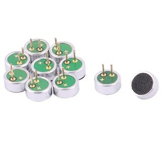 10 PCS 6mm Dia 2.7mm High 2 Pin MIC Capsule Electret Condenser Microphone