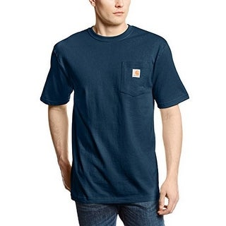 Carhartt Men's Workwear Pocket Short Sleeve T-Shirt Original Fit K87,Navy,X-Large