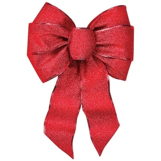 Holiday Trim 6166 Red Velvet Bow, 7 Loops