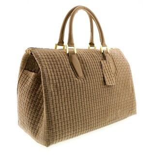 HS2021 TP TALIA  Taupe Leather Satchel/Top Handle Bag - 15-11-5.5