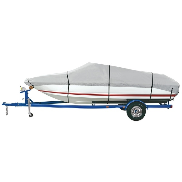 Dallas Manufacturing Co. Heavy Duty Polyester Boat Cover E 20'-22' V-Hull Runabouts - Beam Width to 100""