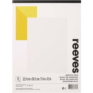 "75 Sheets - Reeves Sketching Paper Pad 9""X12"""