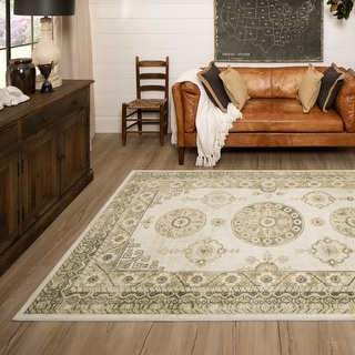 Link to Mohawk Home Ladoga Cream Area Rug Similar Items in Rugs