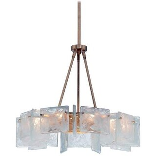 Metropolitan N7289 9 Light 1 Tier Drum Chandelier from the Arctic Frost Collection - antique french gold