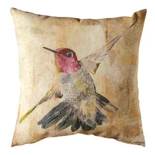 Throw Pillow - Watercolor Hummingbird Indoor/Outdoor Cushion