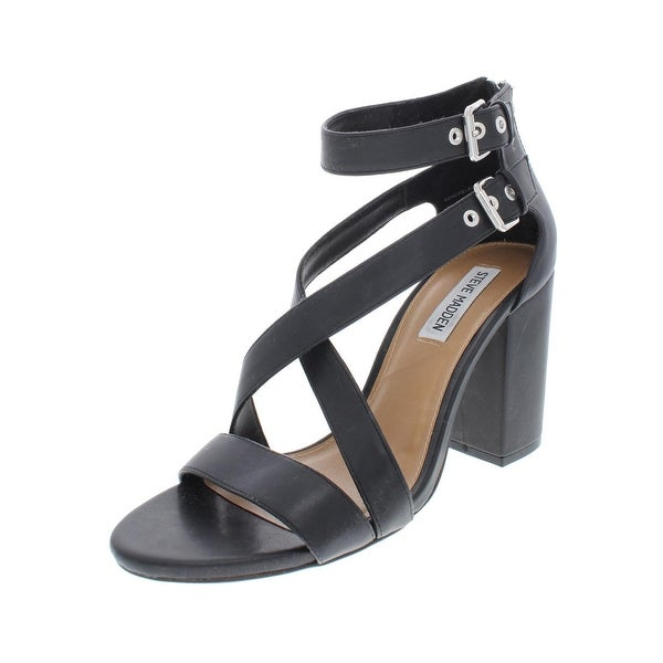 0d27b8e30386 Steve Madden Womens Genevieve Dress Sandals Faux Leather Strappy - 10 Medium  (B