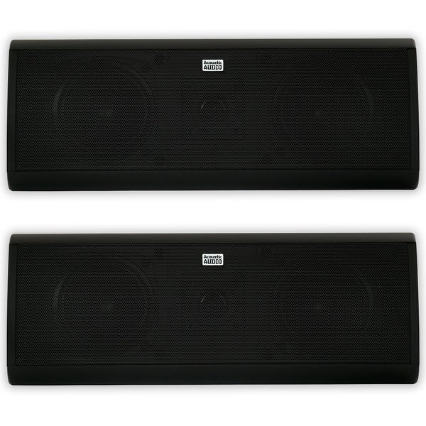 Acoustic Audio AA40CB Indoor 3 Way Speaker Pair 1000W Black Bookshelf AA40CB-PR