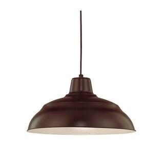 "Millennium Lighting RWHC17 R Series 1 Light 17"" Wide Warehouse Pendant"