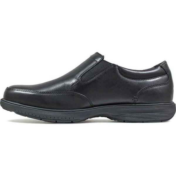 Myles St. Moc Toe Slip On Black Leather