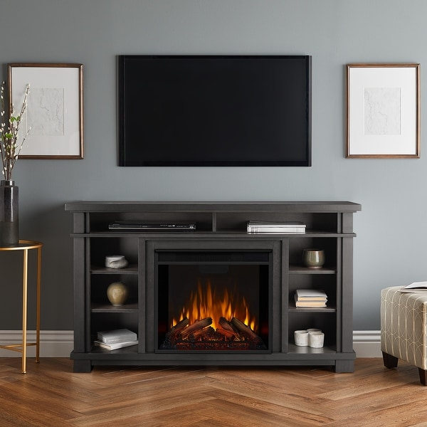 Belford Media Electric Fireplace in Gray. Opens flyout.