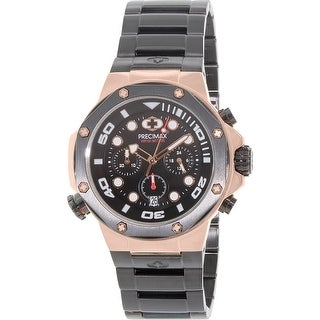 Precimax Men's Guardian Pro PX14007 Black Stainless-Steel Plated Fashion Watch