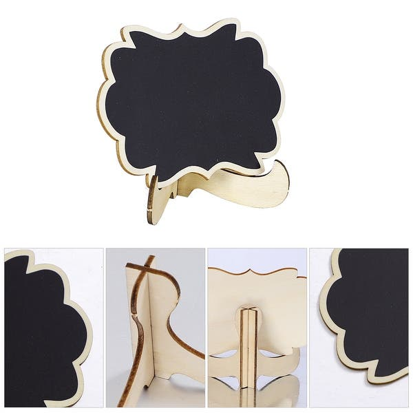 Shop 8pcs Wood Mini Chalkboard Tags With Easel Stand For