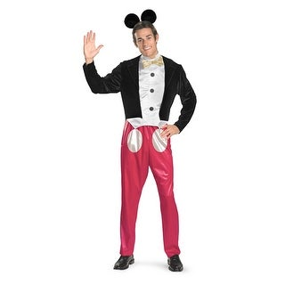 Adult Mickey Mouse Mens Disney Halloween Costume 42-46 XL - xl (42-46 chest)