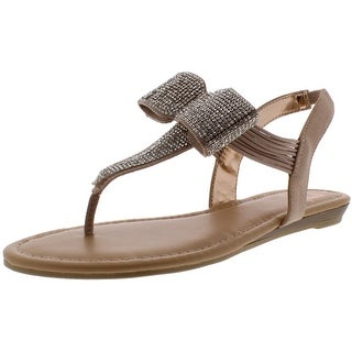 Link to Material Girl Womens Seana Slingback Sandals Faux Leather Embellished Similar Items in Women's Shoes