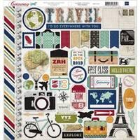 """Element - Getaway Cardstock Stickers 12""""X12"""""""