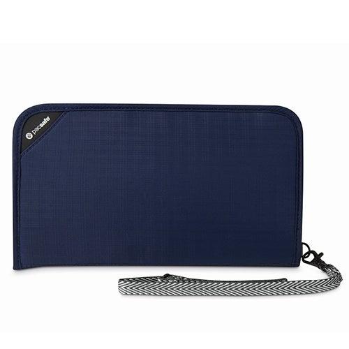 Pacsafe RFIDsafe V200-Navy Blue RFID Blocking Travel Organiser w/ 13 card slots