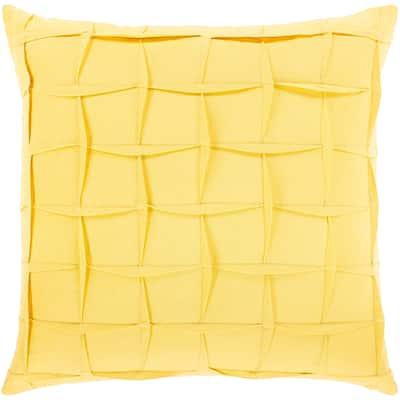 Hatley Pleated Linen Blend Throw Pillow
