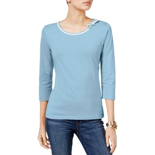 Tommy Hilfiger Womens Casual Top Jersey Bow Detail (5 options available)