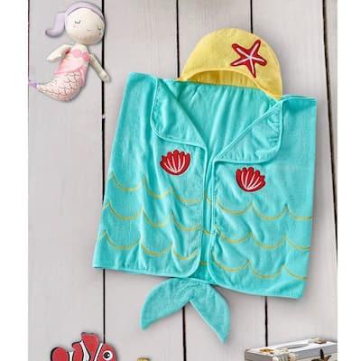 Style Quarters hooded towel-mermaid