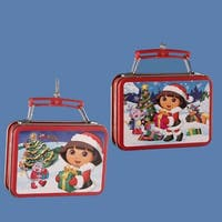 """Pack of 24 Assorted Dora the Explorer Mini Lunch Box Christmas Ornaments 3.25"""" - RED"""