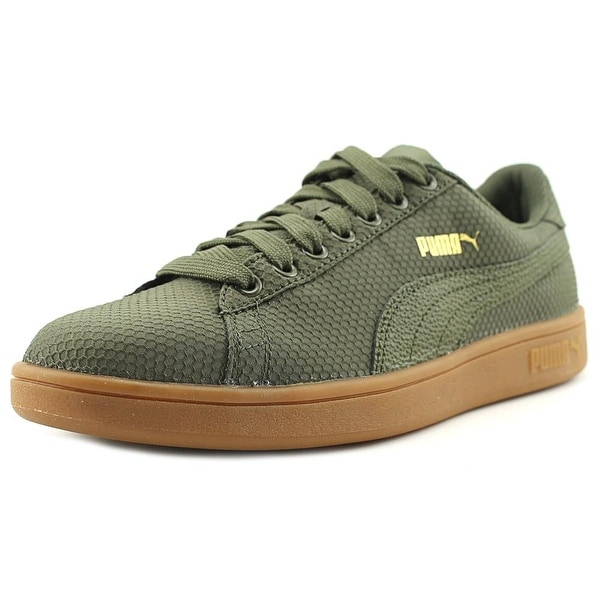 84a46951bd4101 Shop Puma Smash V2 Ripstop Men Round Toe Canvas Green Sneakers ...