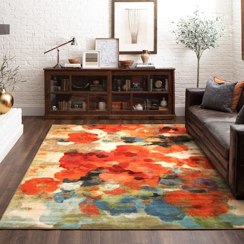 Mohawk Home Colorful Abstract Floral Garden Area Rug