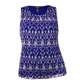 Alfani Women's Pleated Lace Top (XL, Ikat Violet) - xL