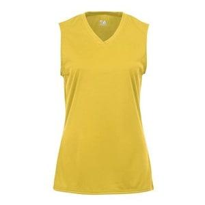 B-Core Women's Sleeveless T-Shirt - Gold - XL