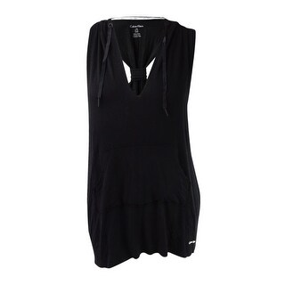 Calvin Klein Womens Active Racerback Hoodie Cover-Up