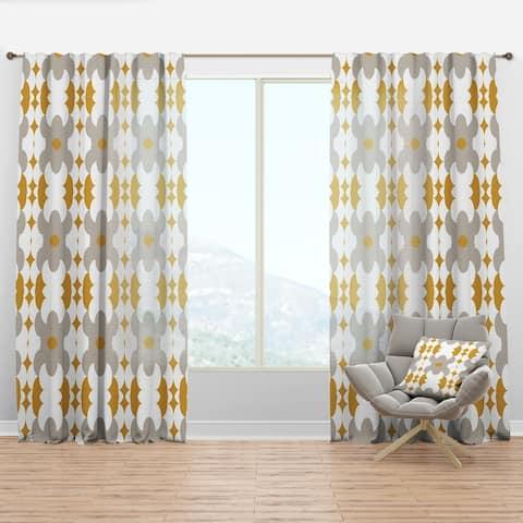 Designart 'Retro Abstract Design XVIII' Mid-Century Modern Curtain Panel