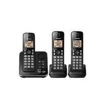 Panasonic KX-TG633SK Cordless Phone with Answering Machine - 3 Handsets (Refurbished)