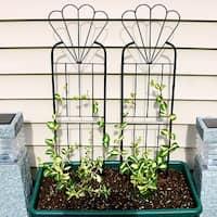 Sunnydaze 32 Inch Flower Design Garden Trellis Set of 2