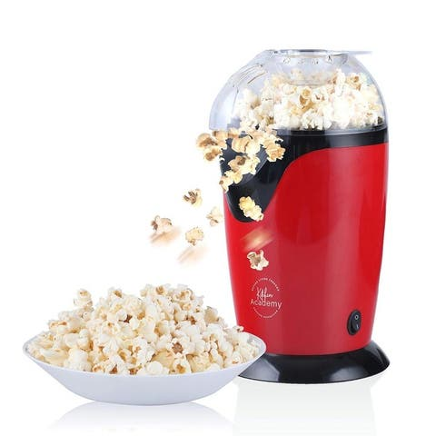Kitchen Academy Popcorn Popper Maker, Blue & Red