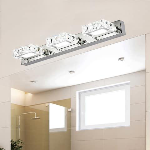 9W Three Lamps Crystal Surface Bathroom Lighting Bedroom Sconces