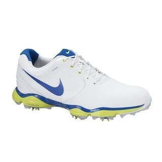 Nike Men's Lunar Control II White/Military Blue/Green Golf Shoes 552073-128