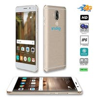 "4G LTE GSM Unlocked 6"" SmartPhone by Indigi (OctaCore Processor @ 1.3GHz + Android 7 + Fingerprint Scan + 2SIM + 13MP Cam) Gold"